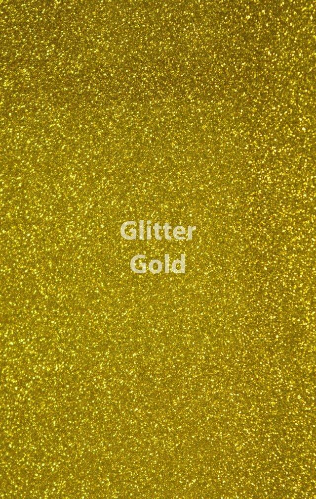 Siser HTV Glitter Gold Sheet