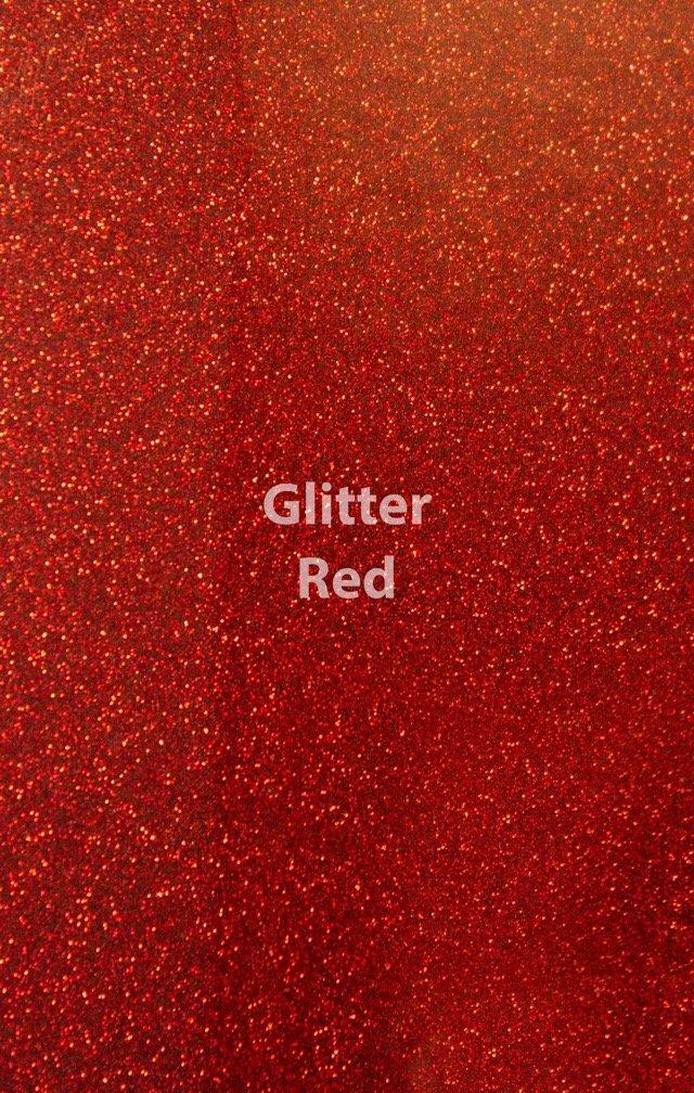 Siser HTV Glitter Red Sheet