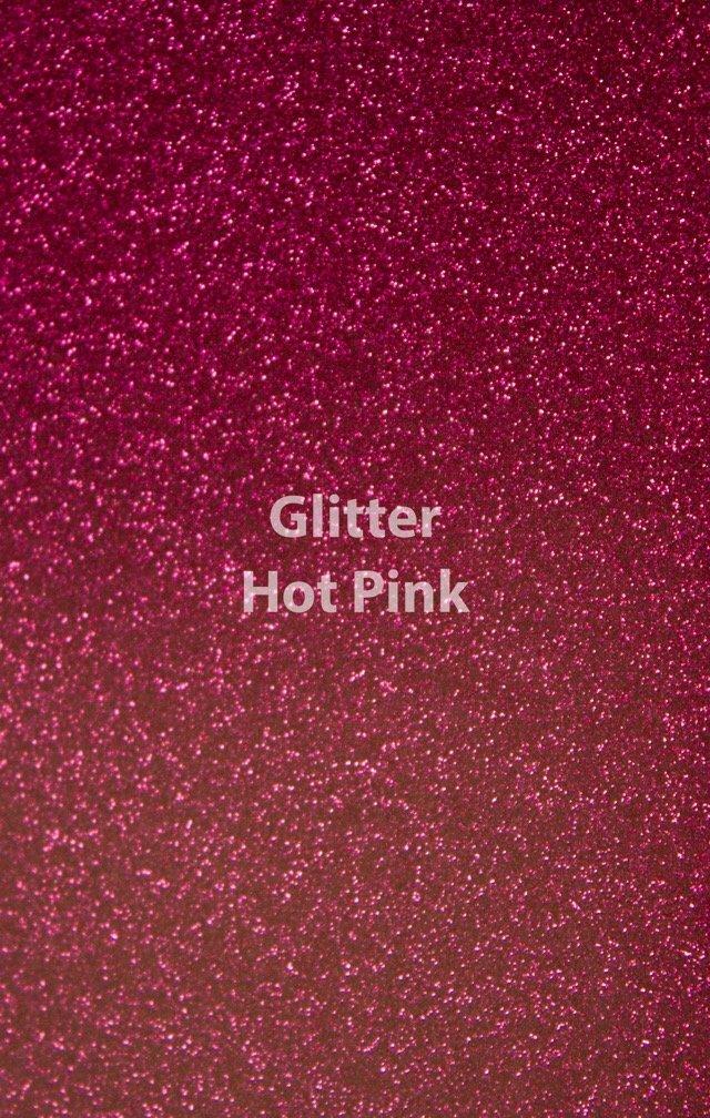 Siser HTV Glitter Hot Pink Sheet