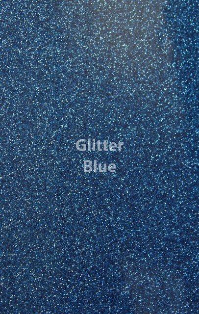 Siser HTV Glitter Blue Sheet