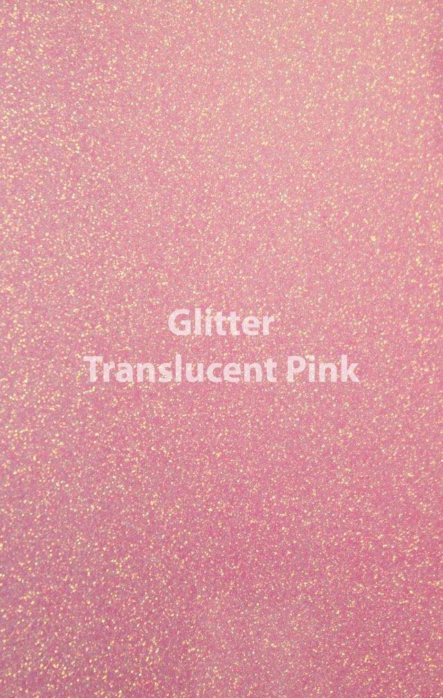 Siser HTV Glitter Translucent Pink Sheet