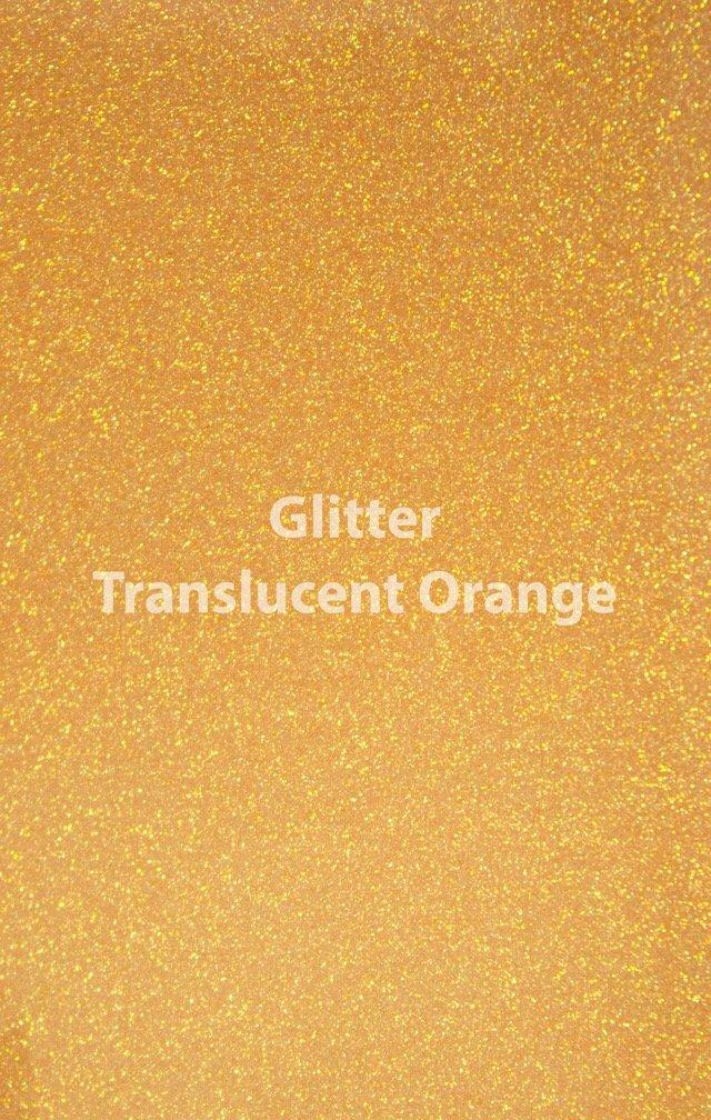 Siser HTV Glitter Translucent Orange Sheet
