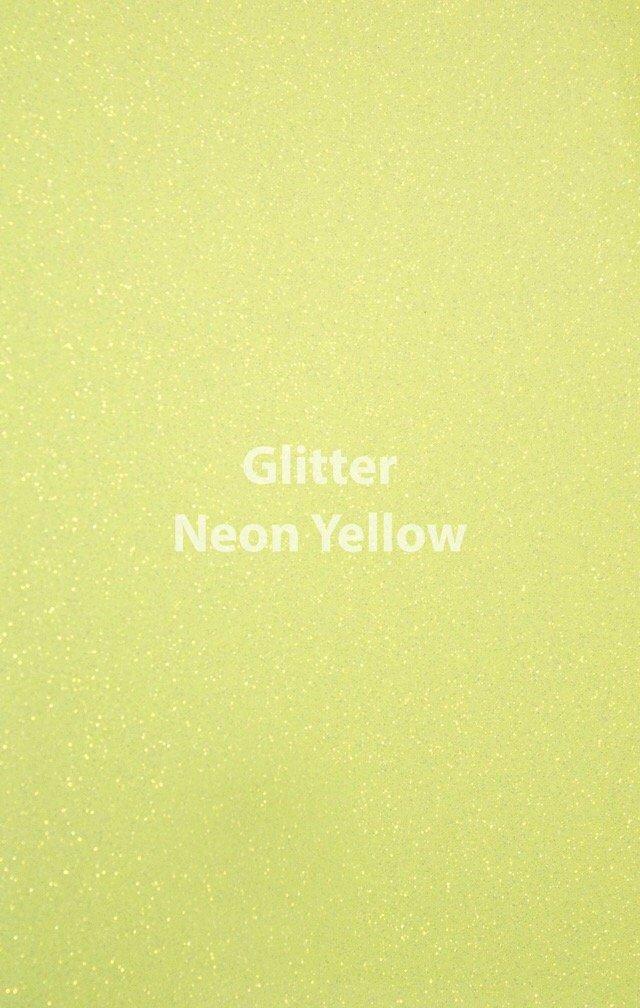 Siser HTV Glitter Neon Yellow Yard