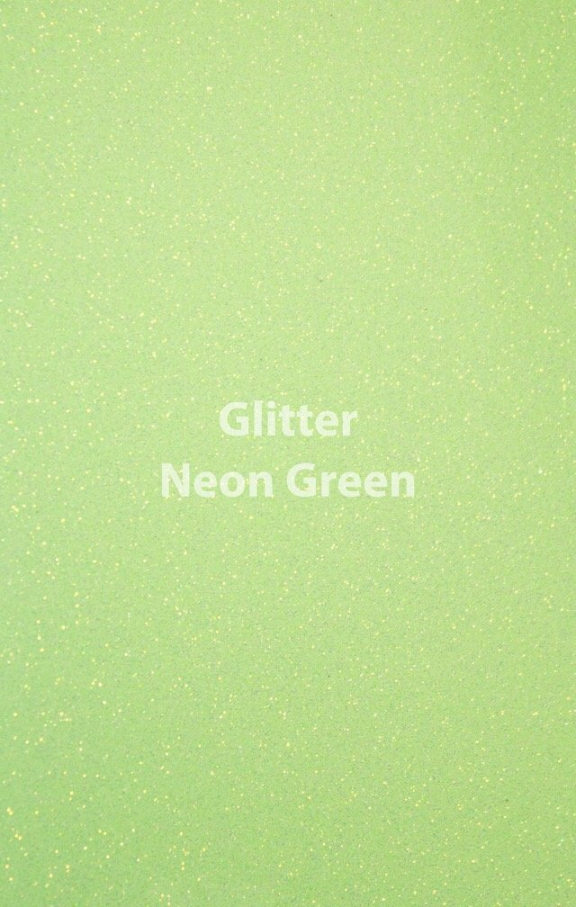 Siser HTV Glitter Neon Green Sheet