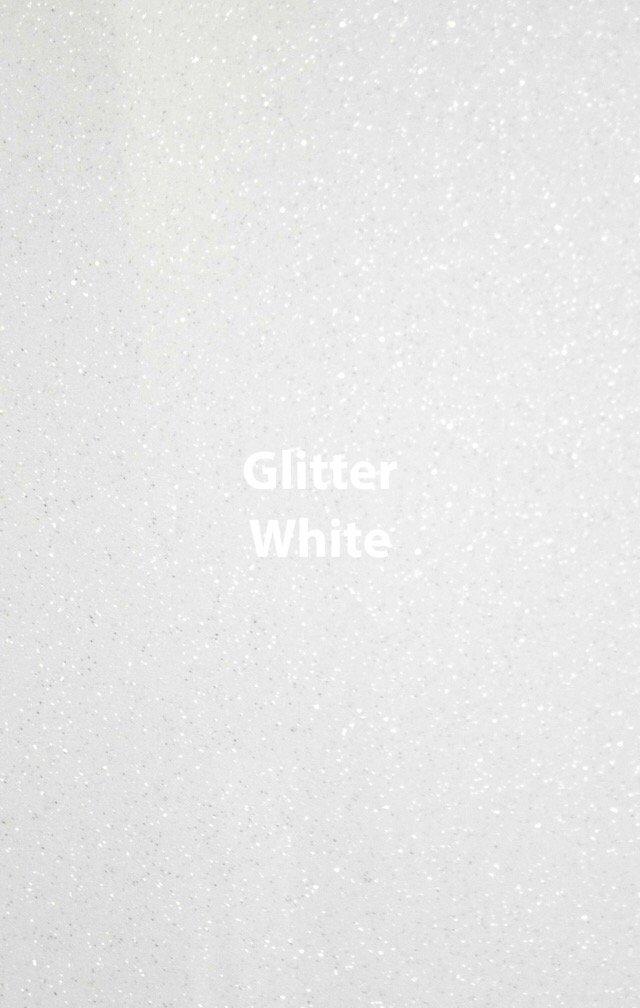 Siser HTV Glitter White Sheet