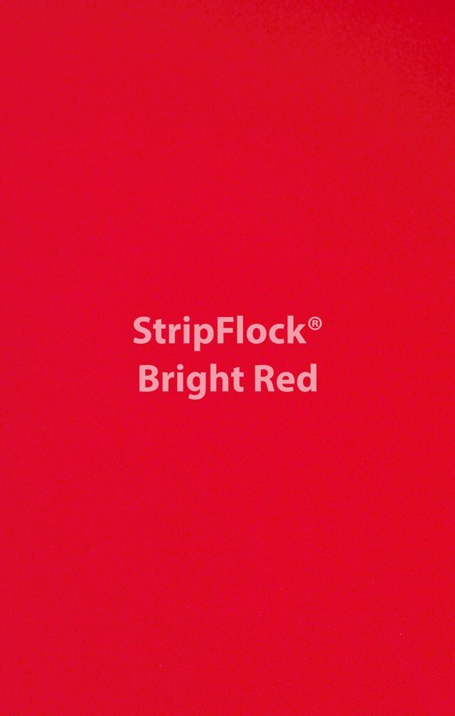 Stripflock Bright Red Yard
