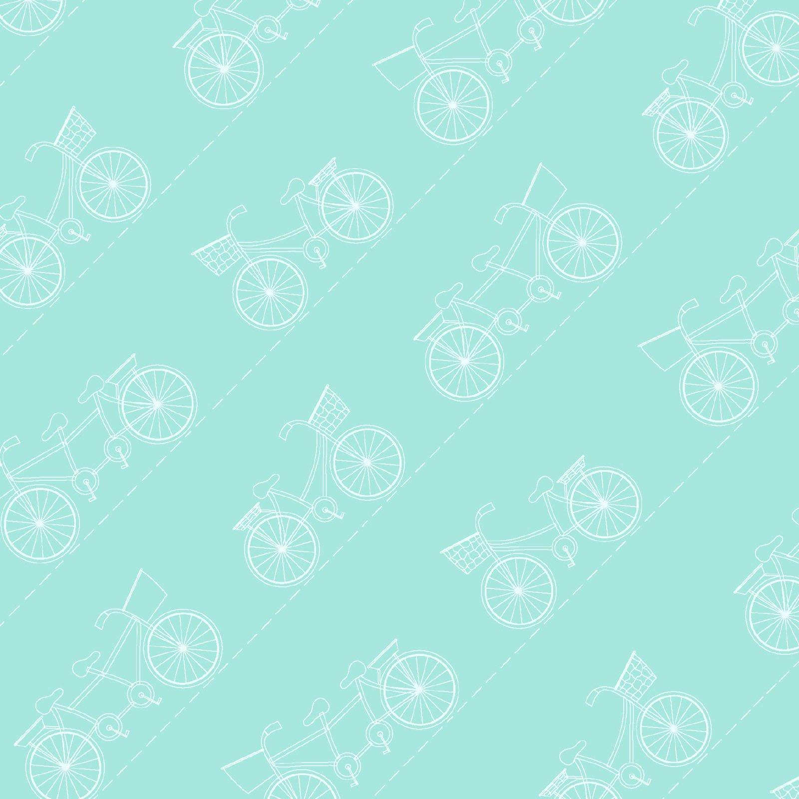 Vintage Boardwalk Fresh Teal Diagonal Bikes
