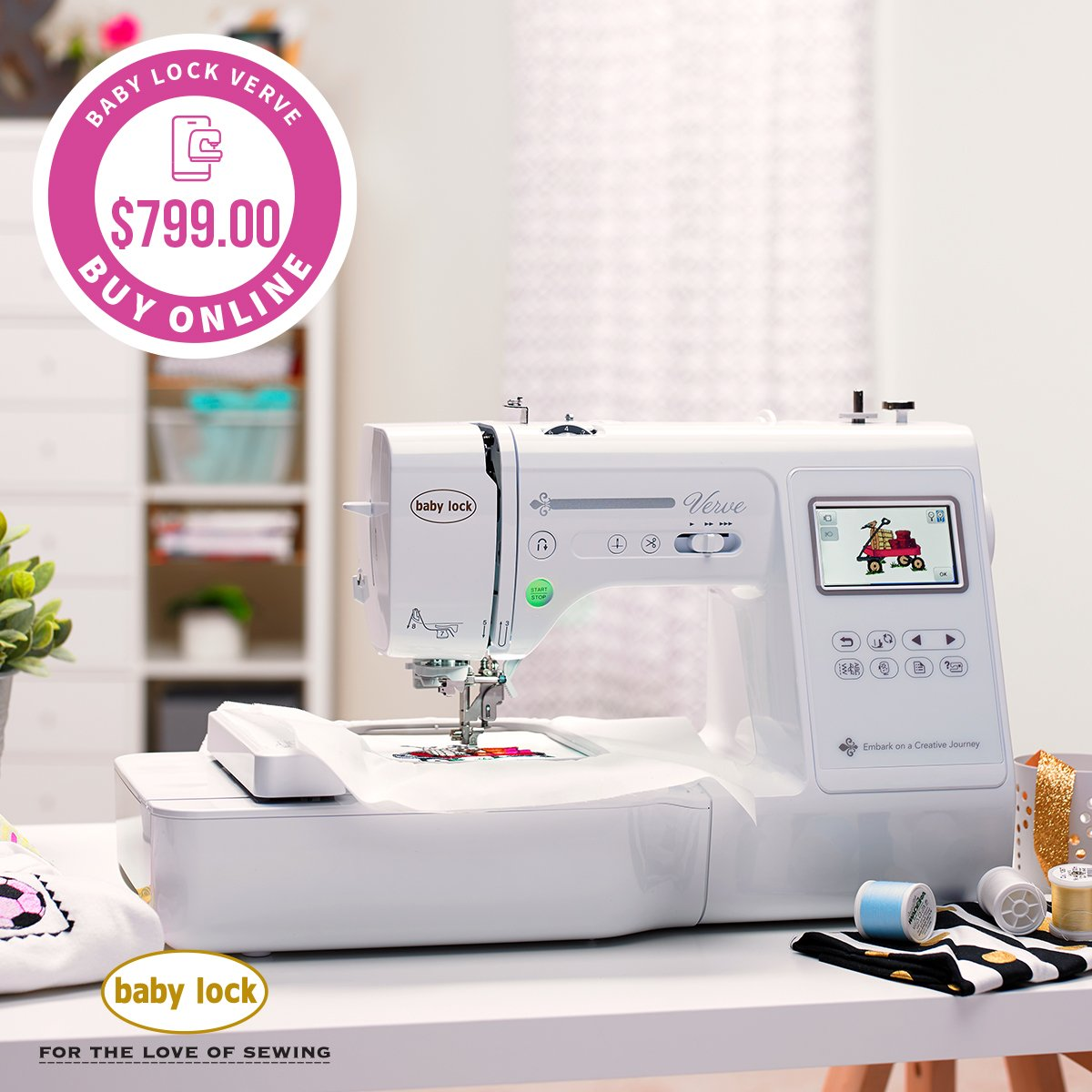 VERVE Sewing/Embroidery includes shipping