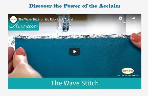Babylock Acclaim Wave Stitch Demo