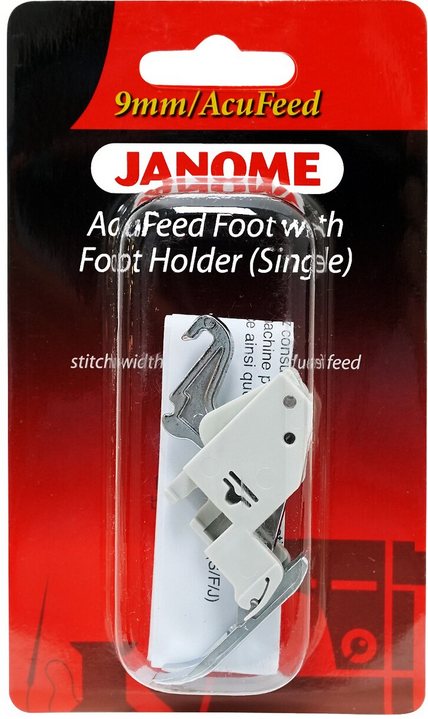 Janome 9mm AcuFeed Foot with Foot Holder (Single)