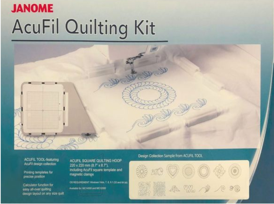 AcuFil Quilting Kit (8.7x8.7 plus designs and software)