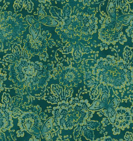 Asian Garden Tonal Flrl w/Mtl Green
