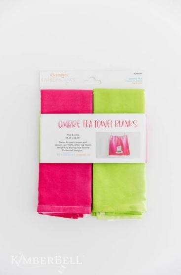 FEB Ombre Tea Towel Set Pink & Lime