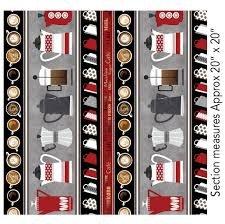 Coffee Bar Stripe Red/Gray