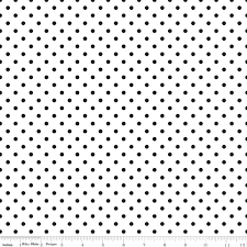 CRAZY FOR DOTS-black and white