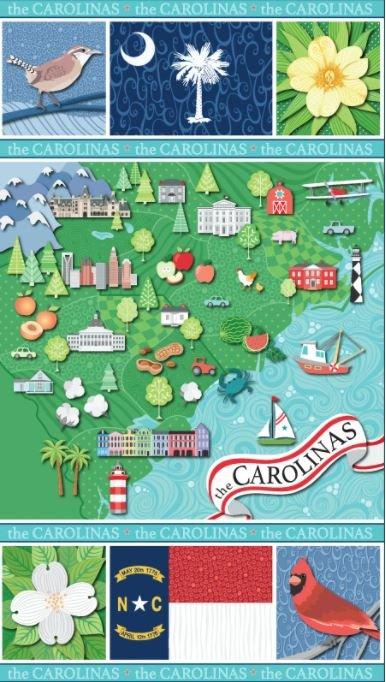 Carolinas Landscape Panel-Multi 13542-99