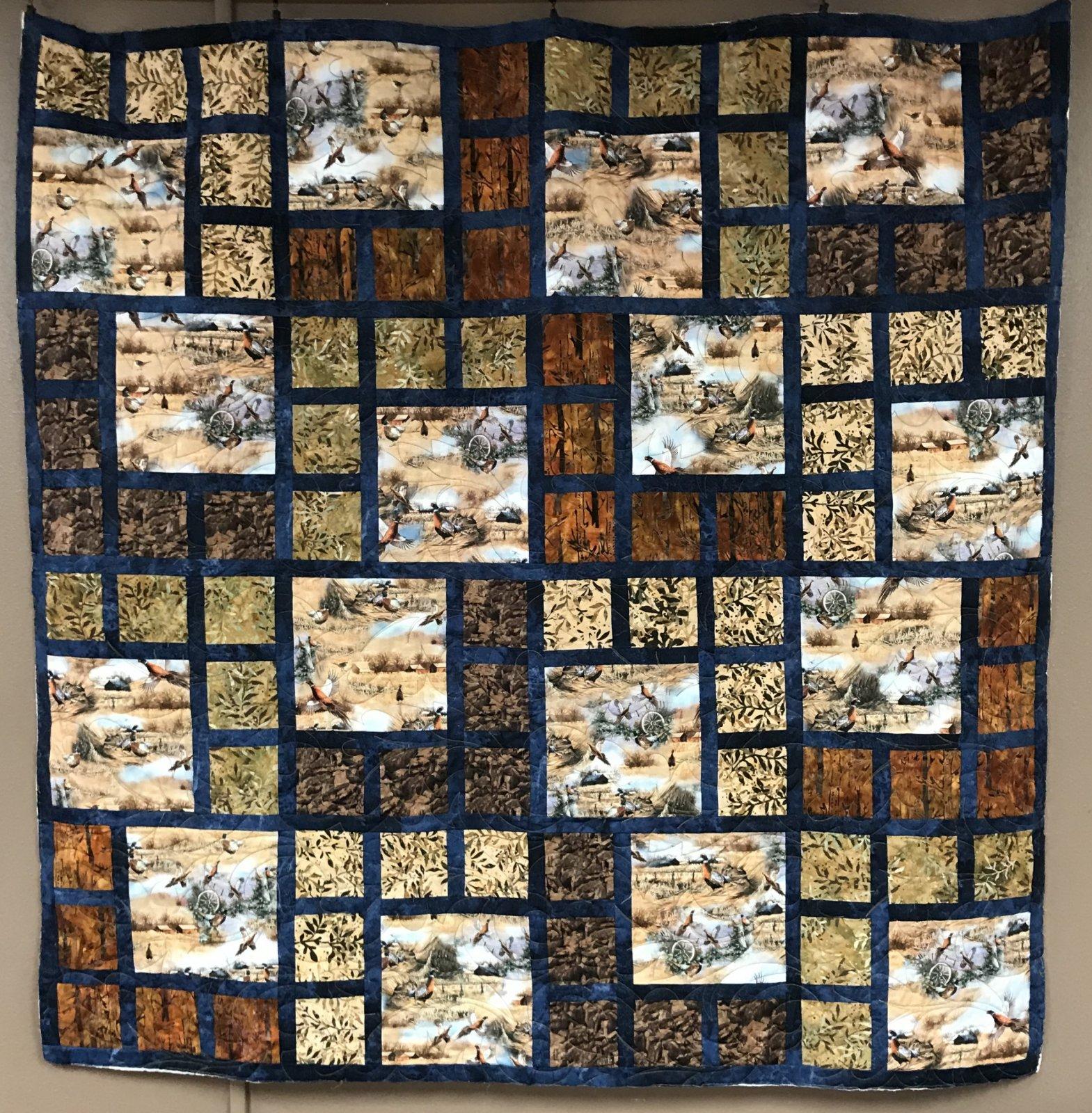 Honeybell Pheasant Quilt 61 x 61