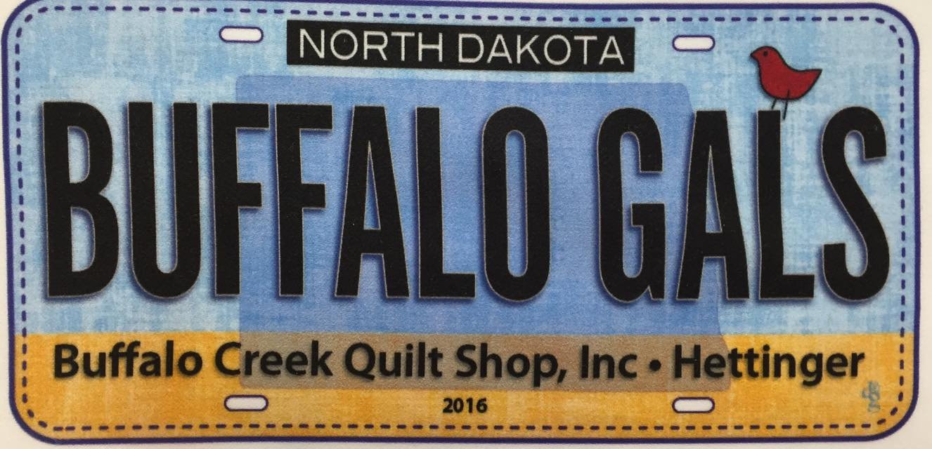 Row by Row Buffalo Gals License Plate 2016 $4