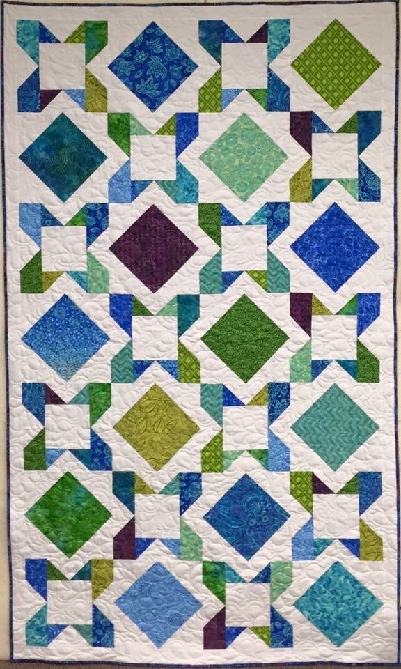 Embrace White Quilt 61 x 85