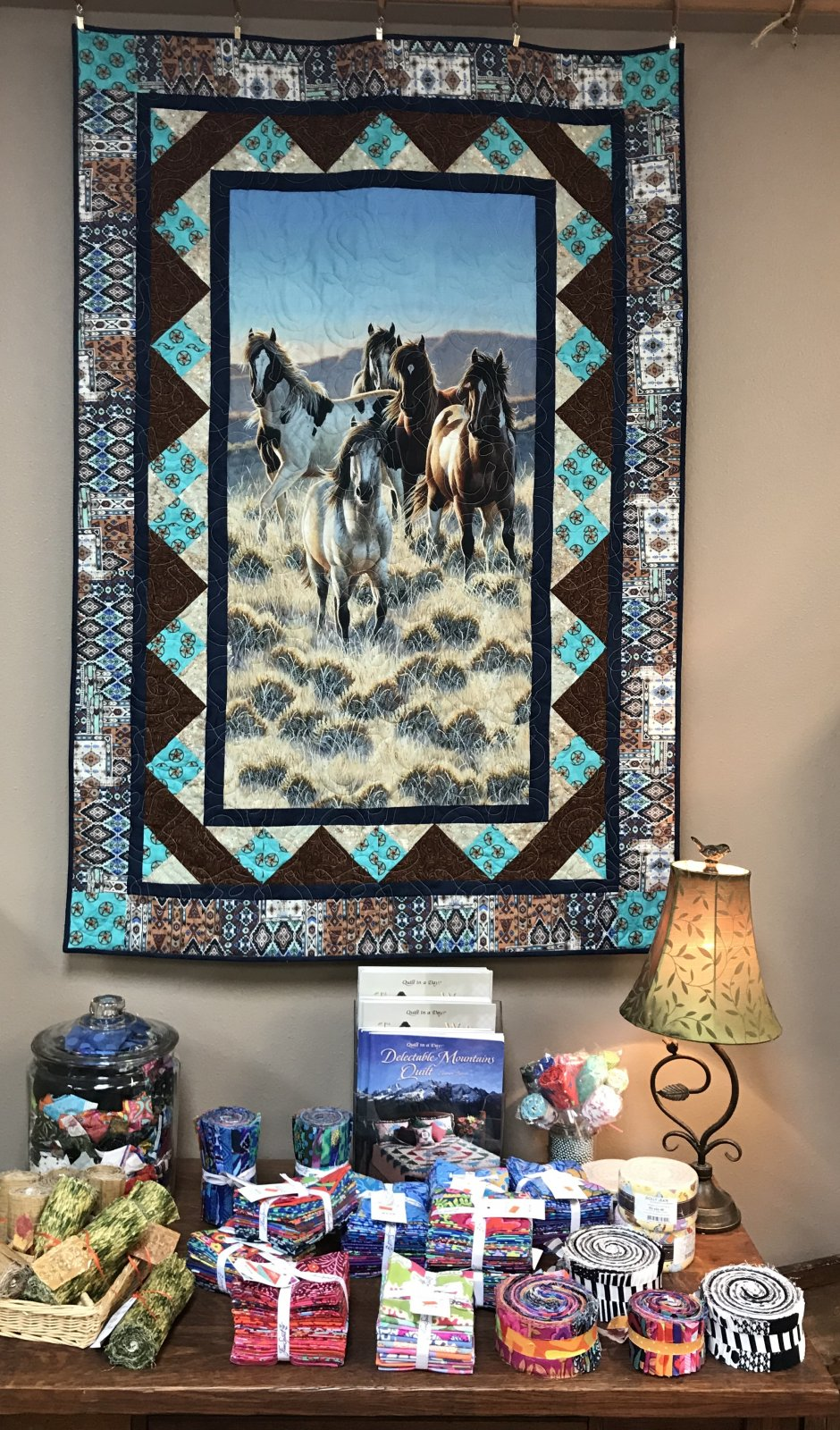 Home on the Range Horse Quilt 42 x 62