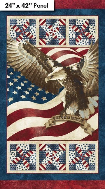 Stars & Stripes Eagle Panel 39090-25