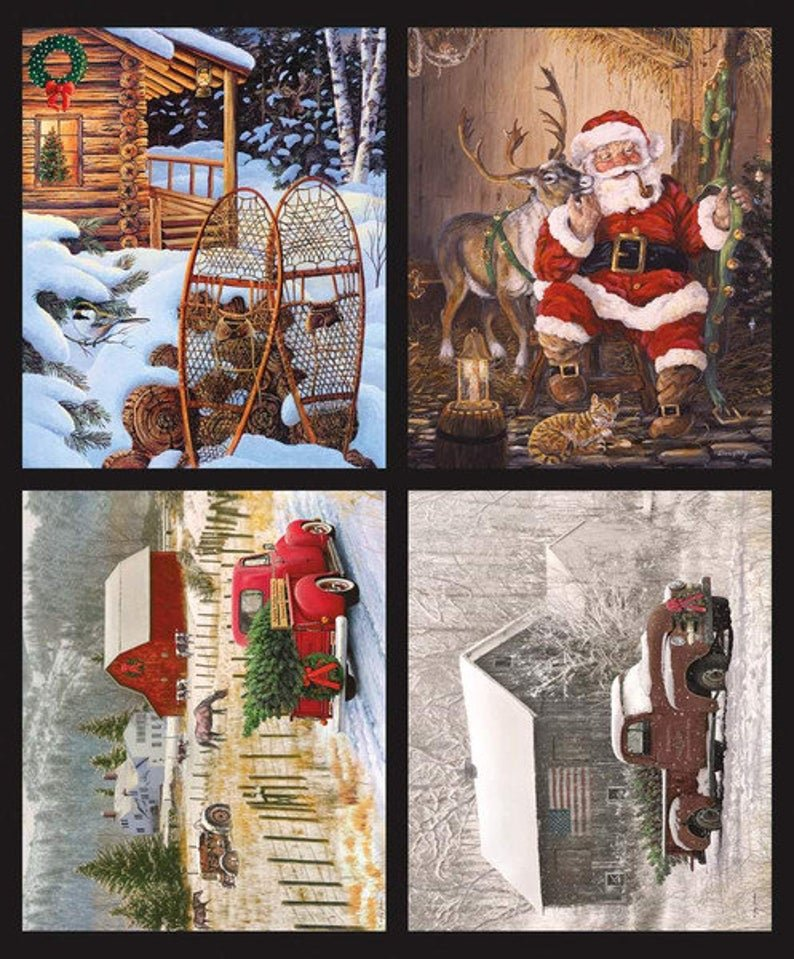 Christmas Memories Truck Panel 4-panel P8694