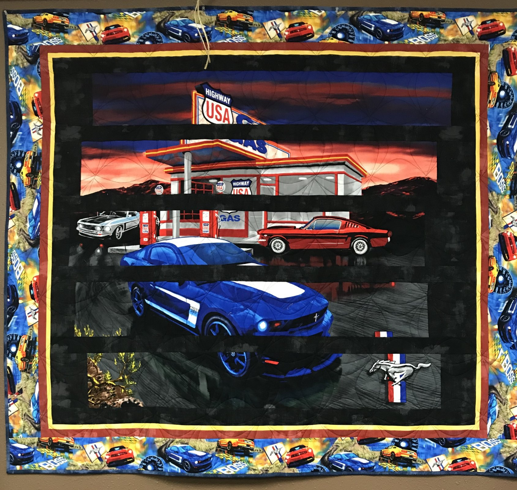 Ford mustang lap quilt 54 5 x 60 5