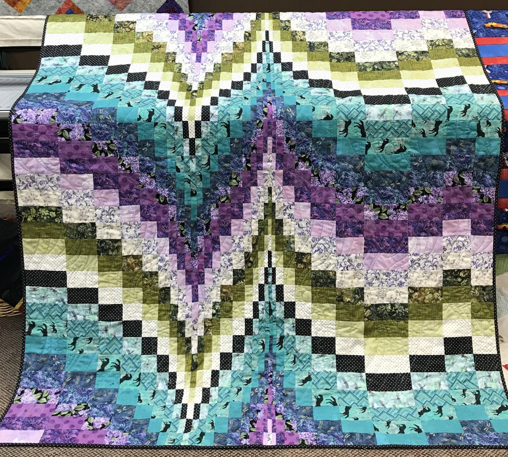Morning Melody Bargello Quilt 60 x 72