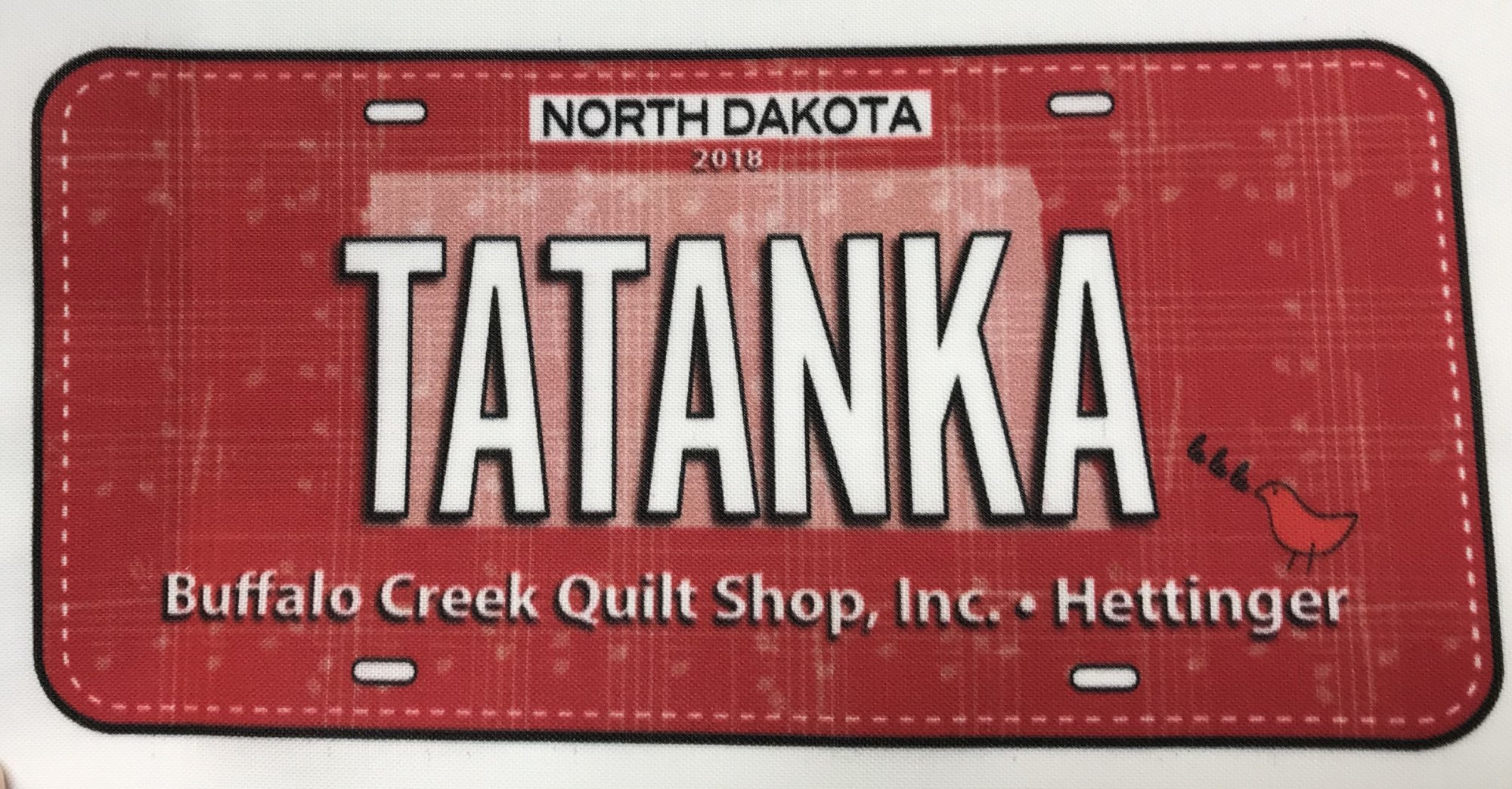 Row by Row Tatanka License Plate 2018