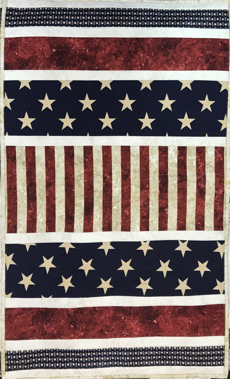 Patriotic Wall Hanging/Runner 21 x 35