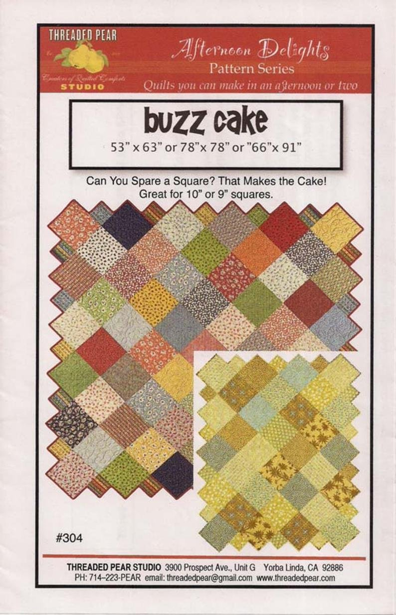 Buzz Cake Quilt Pattern 3 sizes
