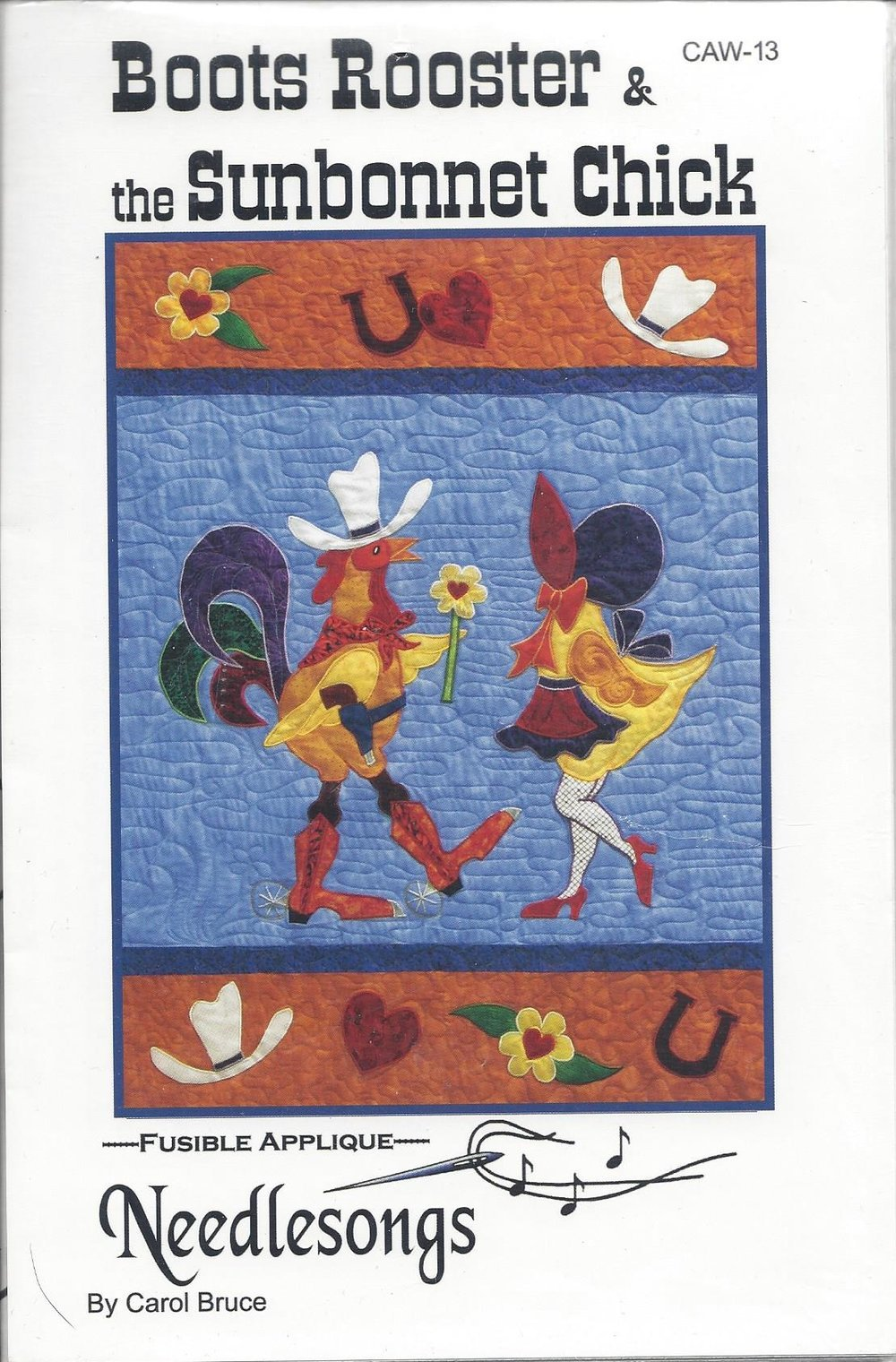 Boots Rooster & the Sunbonnet Chick CAW-13