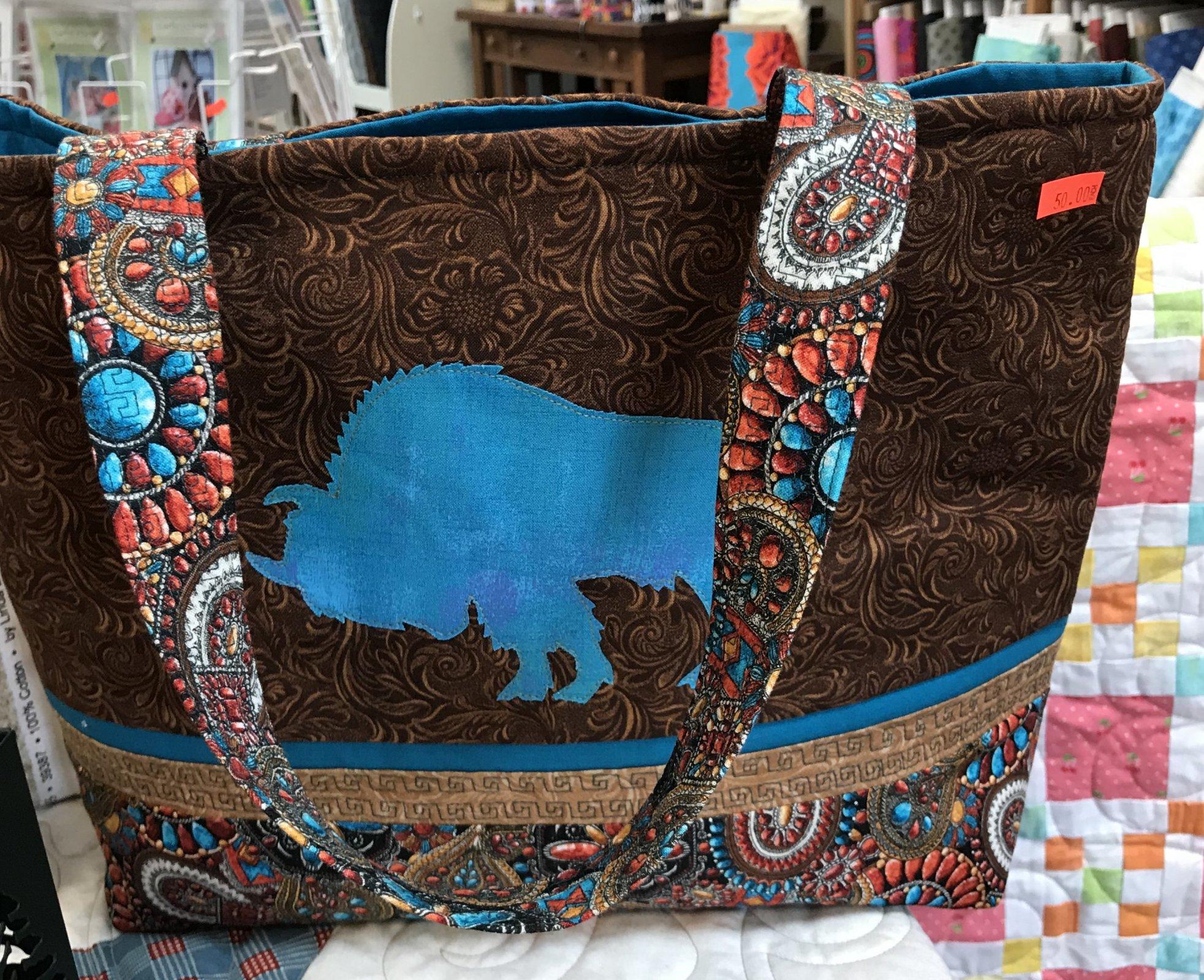 Buffalo Tote Bag Teal