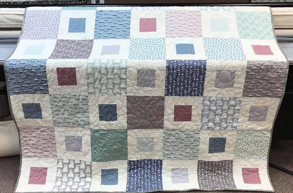 1+2=Easy Quilt Arctic 67 x 78 with Luna Luxe backing