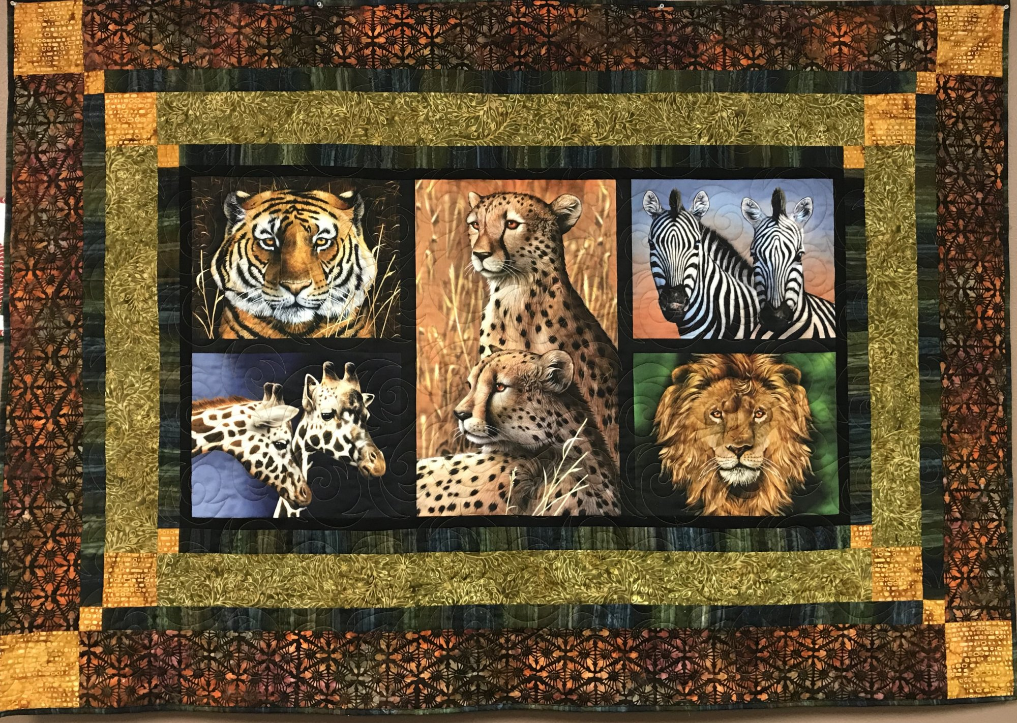 Nature Lap Quilt/Wall Hanging 66 x 46