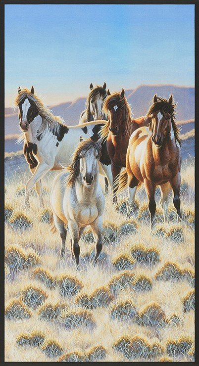 North American Wildlife Horses Panel 18288-268