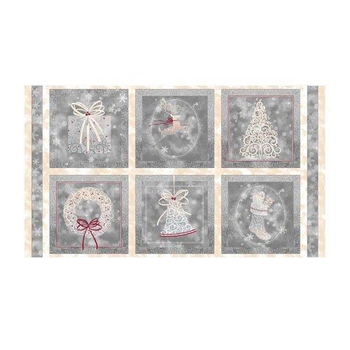 Holiday Elegance Pewter Christmas Panel 23877-K