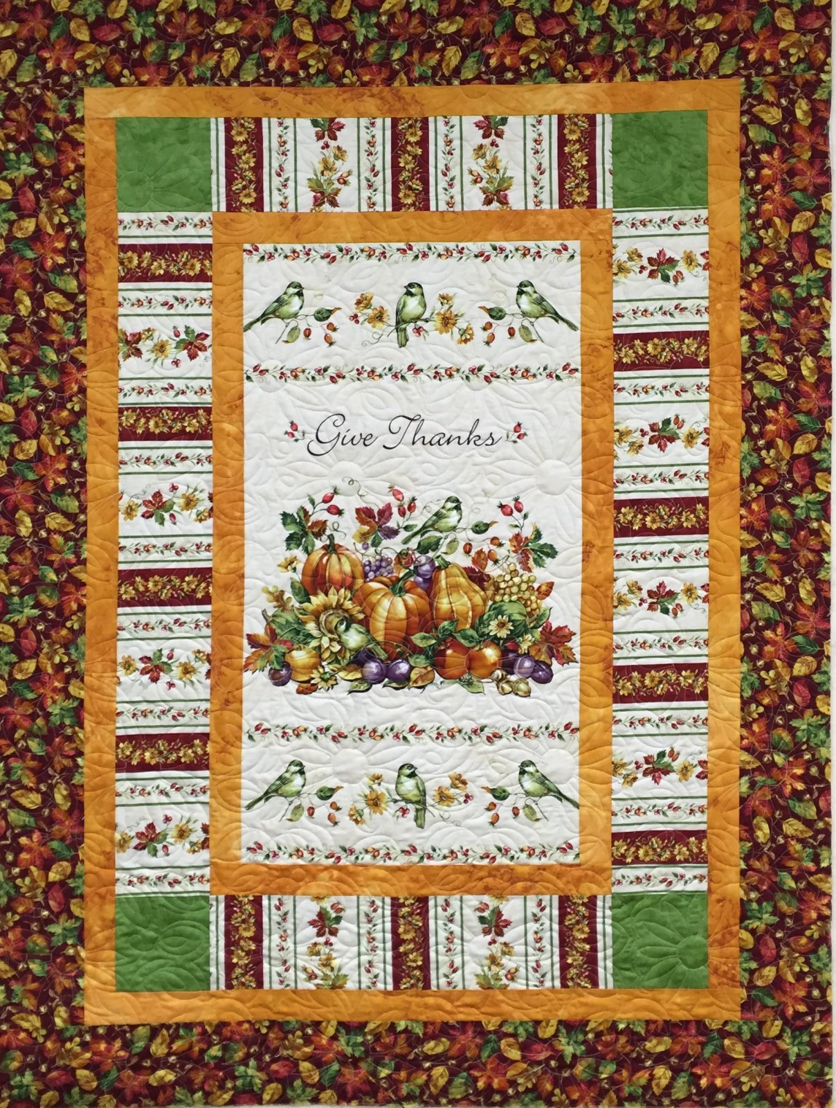 Give Thanks Quilt 54.5 x 71.5