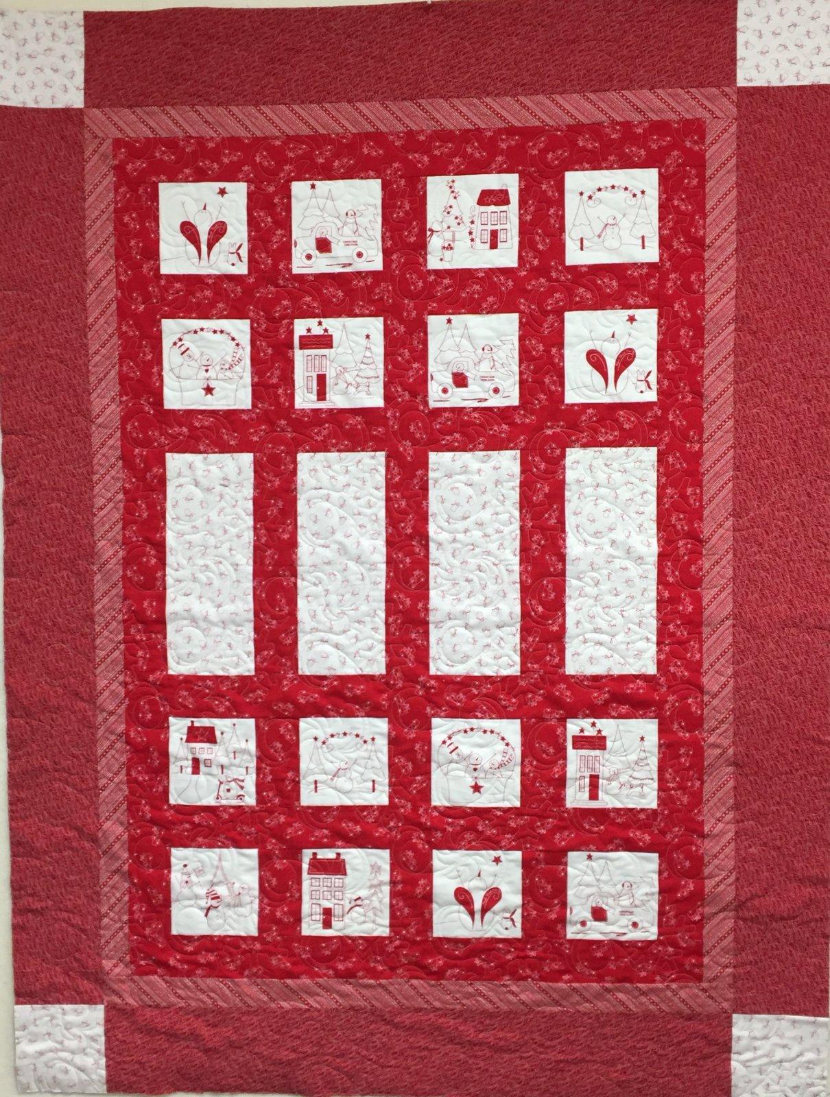 Brioche & Baguette Christmas Quilt  57 x 75 SOLD!!