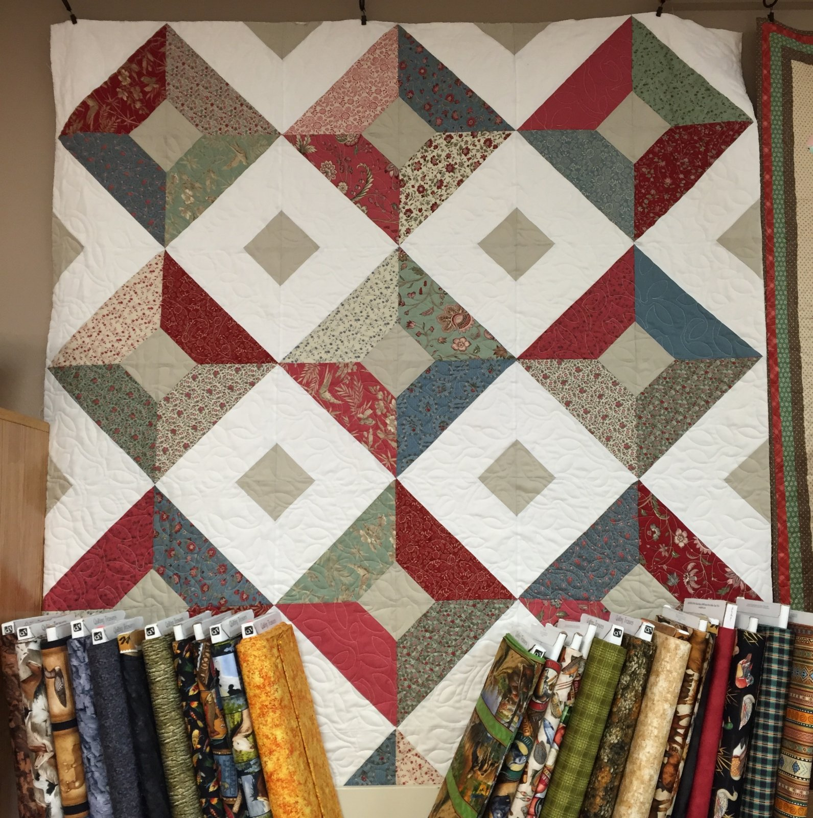 Double Sided Diamond Quilt (reversible) 54 X 72