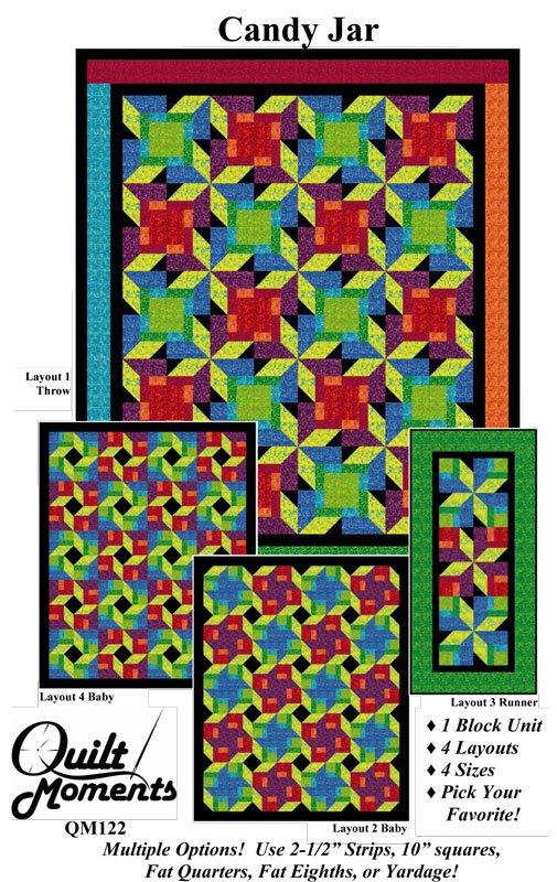 Candy Jar Quilt Pattern QM122 (4 sizes)