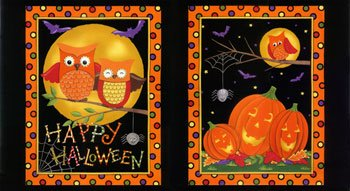 Happy Howloween Panel Black 19550-11