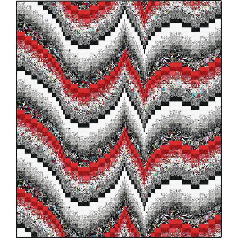 Morning Melody Bargello Quilt Pattern - 850797004633
