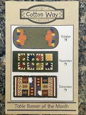 Cotton Way Table Runner of the Month October #2010