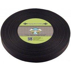 Black Polypro Webbing 1 25yd Roll
