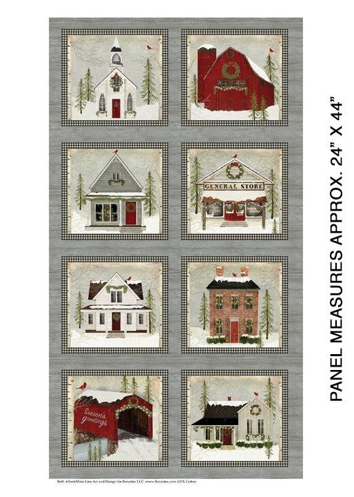 Snow Village Panel Multi