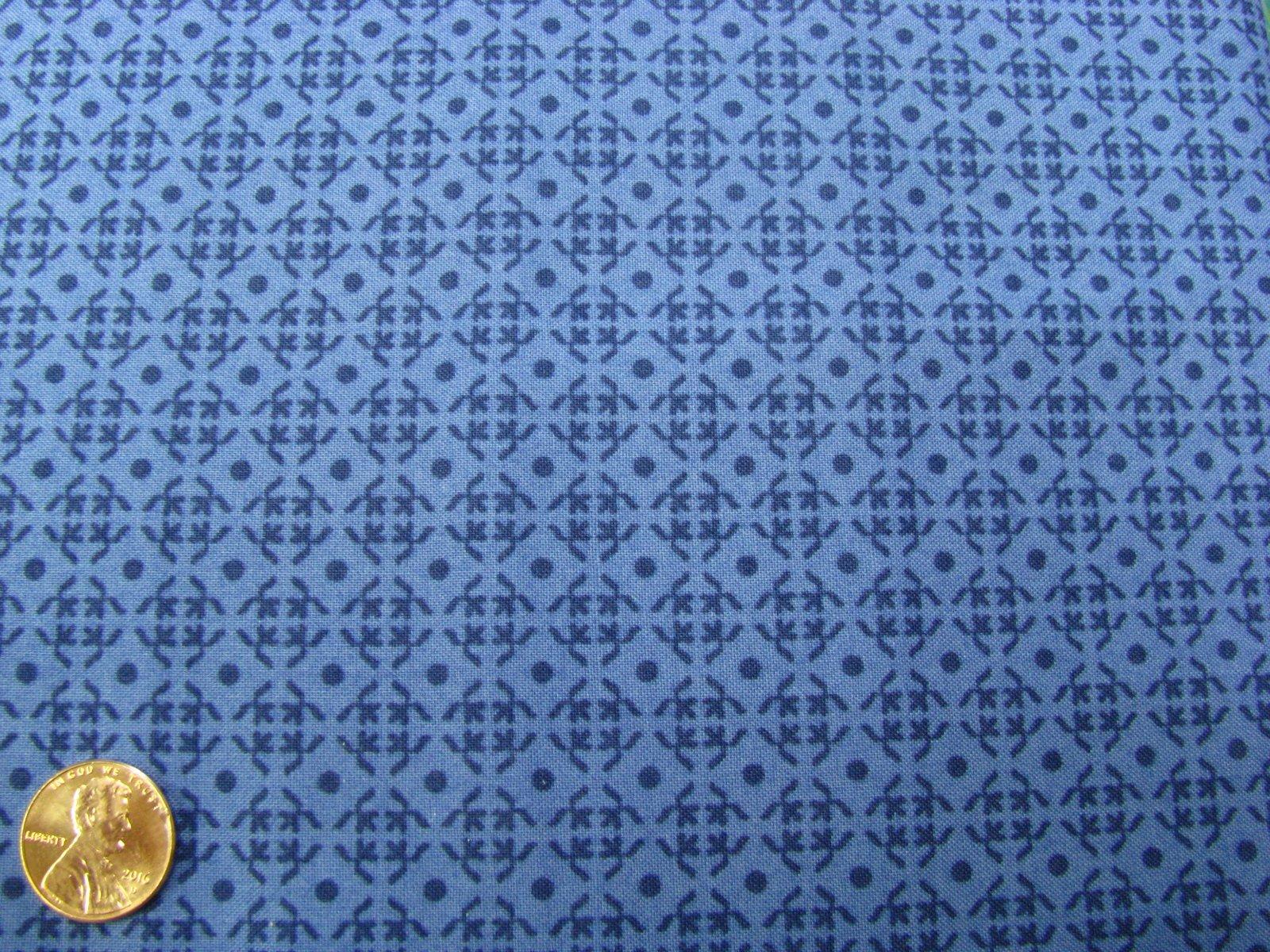 In the Beginnings-Botanica-Diamond Grid-Blue