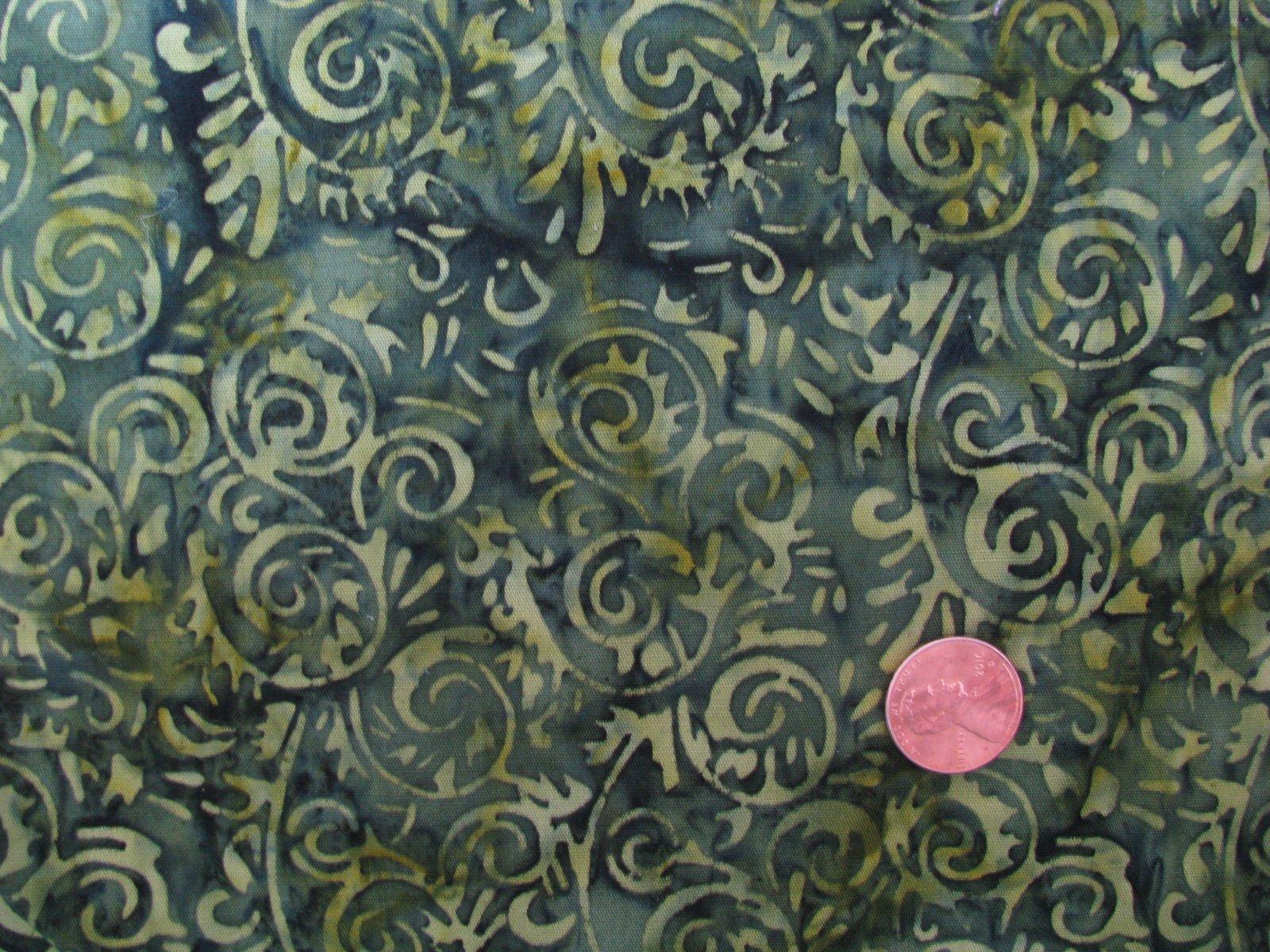 Island Batik, BE28-G2, green from Flower Show