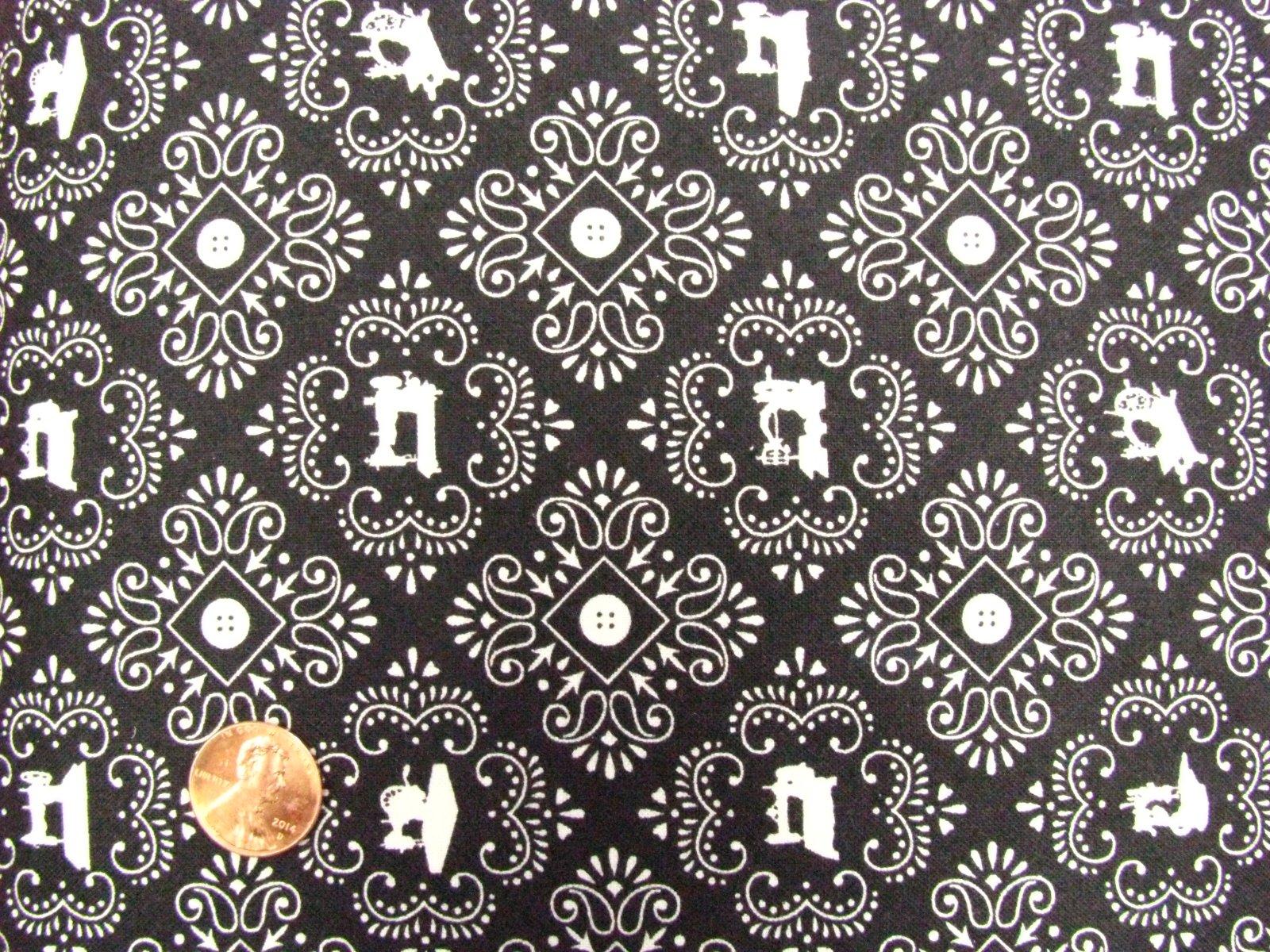 Quilting Treasures Black Cute As A Button 24830 J