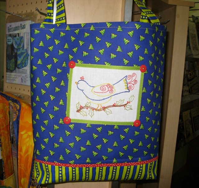 Holiday Birdie Tote